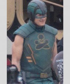 Nathan Fillion The Suicide Squad 2 T.D.K Green Leather Vest