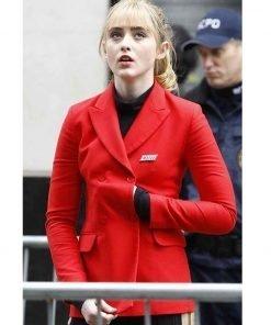 Kathryn Newton Pokemon Detective Pikachu Lucy Stevens Red Jacket