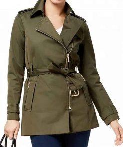 Riverdale S05 Alice Cooper Belted Green Jacket