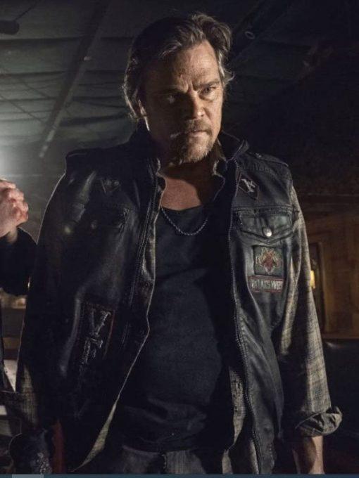 The Walking Dead Season 10 Baxter Leather Vest