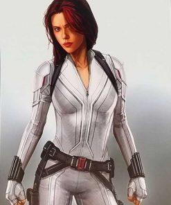 Scarlett Johannson Black Widow White Jacket