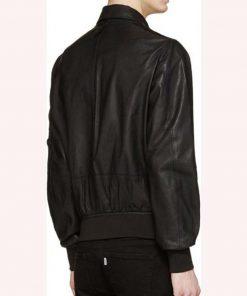 Evan Roderick Spinning Out Justin Davis Black Bomber Leather Jacket