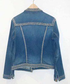 Jenn Yu Blue Studded Spinning Out Amanda Zhou Denim Jacket