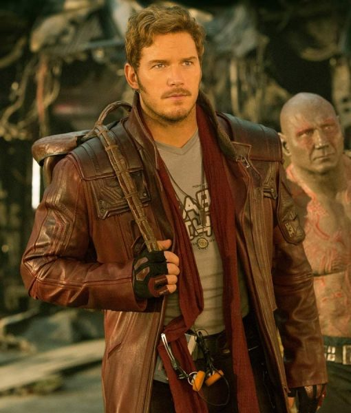 Guardians of The Galaxy 2 Star Lord Leather Coat