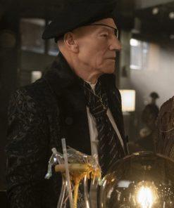 Patrick Stewart Star Trek Picard Jean-Luc Picard Black Suit