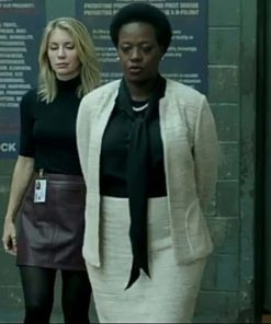 The Suicide Squad Amanda Waller White Jacket