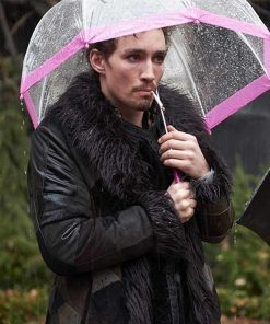 The Umbrella Academy Klaus Shearling Coat