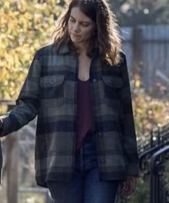Lauren Cohan TV Series The Walking Dead S10 Maggie Rhee Plaid Jacket