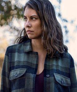 The Walking Dead Season 10 Maggie Rhee Plaid Jakcet