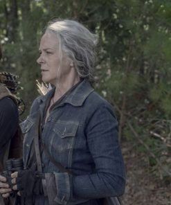 Melissa Mcbride The Walking Dead Season 10 Carol Peletier Blue Denim Jacket