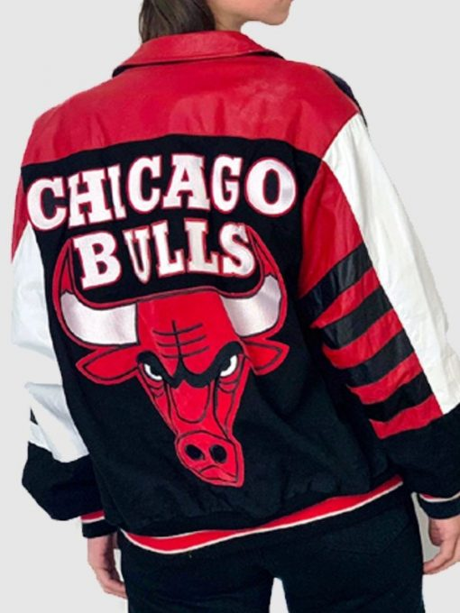 Vintage Chicago Bulls Leather Jacket