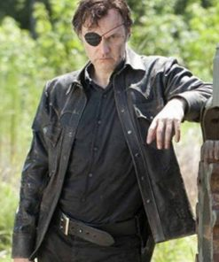 David Morrissey The Walking Dead Governor Black Leather Jacket