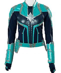 Team Captain Marvel Green Jacket