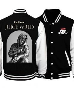 Juice Wrld Black & White Varsity Jacket