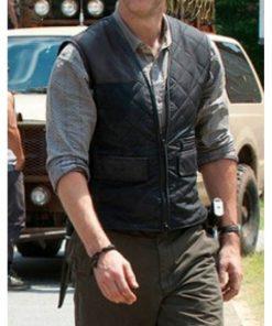 Governor The Walking Dead David Morrissey Quilted Vest