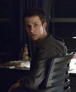 Clay Jensen 13 Reasons Why Dylan Minnette Black Denim Jacket