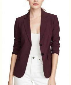 Alisha Boe Burgundy 13 Reasons Why S4 Blazer