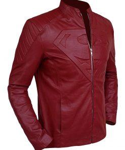 Maroon Biker Superman Smallville Leather Jacket