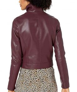 Azie Tesfai TV Series Supergirl S06 Burgundy Leather Jacket