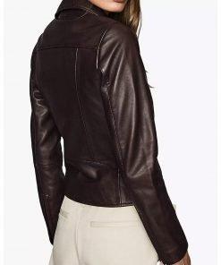 Jenny Hoyt Big Sky 2021 Katheryn Winnick Motorcycle Leather Jacket