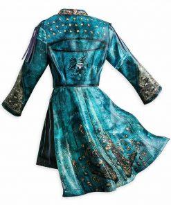 Uma Descendants 2 China Anne McClain Sea blue Leather Jacket
