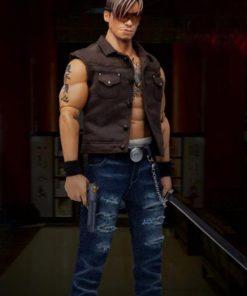 Gangsters Kingdom Club 4 Yao Tian Brown Cotton Vest