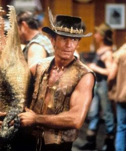Crocodile Dundee Paul Hogan Leather Vest