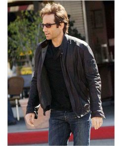 Californication Hank Moody Black Leather Jacket