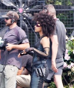 Deadpool 2 Neena Thurman Domino Zazie Beetz Costume Leather Vest
