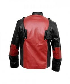 Game Version Deadpool Red And Black Biker Leather Jacket