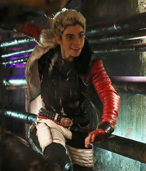 Carlos Disney Descendants Cameron Boyce Shearling Zipper Leather Jacket