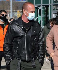 Law and Order Organized Crime Christopher Meloni Black Leather Jacket