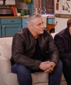Matt LeBlanc TV Series Friends The Reunion 2021 Brown Quilted Leather Jacket