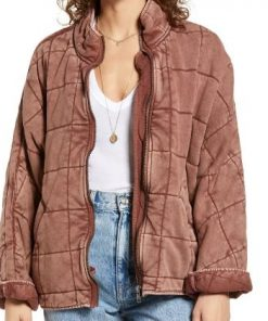 NCIS New Orleans Hannah Khoury Pink Quilted Jacket