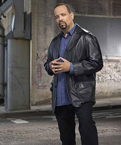 Ice-T Law and Order: Special Victims Unit Black Leather Jacket