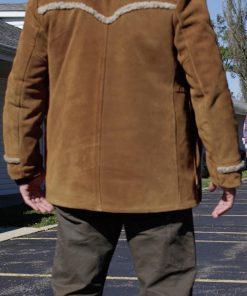 Javier Muñoz Monuments Howl Brown Shearling Jacket
