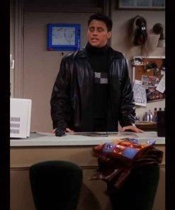 Joey Tribbiani TV Series Friends S07 Matt LeBlanc Black Leather Jacket