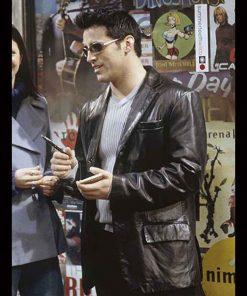 Matt LeBlanc Friends Season 06 Black Leather Blazer