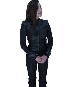 Dr. Karina Mogue Avatar 2 Black Leather Michelle Yeoh Jacket