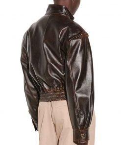 TV Series Nancy Drew S02 Kennedy McMann Brown Leather Bomber Jacket