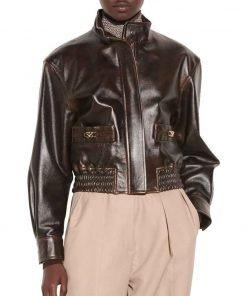 Nancy Drew Season 02 Brown Leather Jacket
