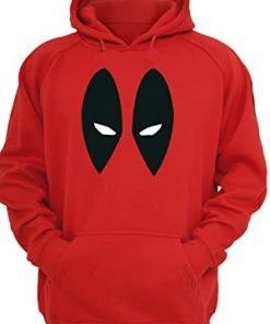 Deadpool Eye Logo Red Hoodie