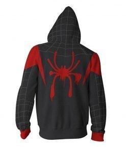 Spiderman Into The Spider Verse Miles Morales Zip Up Hoodie
