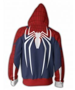 Spiderman PS4 Game White Spider Pullover Zip-up Hoodie