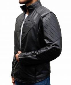 Tom Welling Superman Smallville Black Leather Jacket