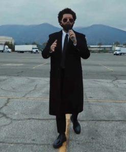 The Weeknd Black Wool Trench Billboard Music Awards 2021 Coat