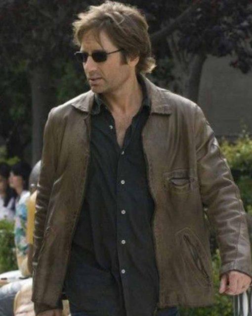 David Duchovny Californication Leather Jacket