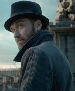 Fantastic Beasts 2 The Crimes Of Grindelwald Jude Law Grey Corduroy Coat