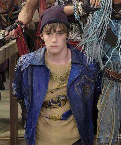 Mitchell Hope Disney Descendants 2 King Ben BlueStudded Leather Jacket