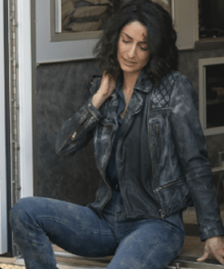 Hannah Khoury NCIS New Orleans Black Quilted Jacket